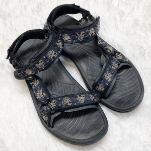 Teva Floral Strappy Hiking Sandals